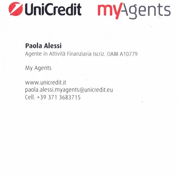 Agente in attività finanziaria per Unicredit spa